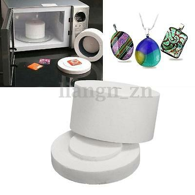 1Pc Small Microwave Kiln Pot Stained Ceramic Glass Fusing Supplies DIY Jewellery