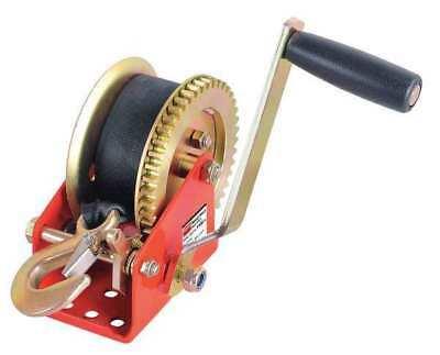 DAYTON 12U366 Ratcheting Winch w/Strap,Spur,1400 lb.