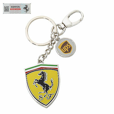 New Ferrari Shield United Parcel Service Key Ring Key Chain Enamelled Metal Ups