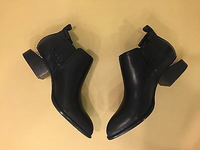 Alexander Wang Women's Ankle Boots Black Leather Kori Size 39