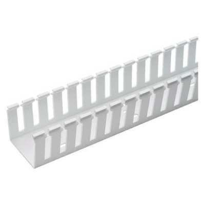 PANDUIT G4X3WH6 Wire Duct,Wide Slot,White,4.25 W x 3 D