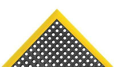 """3 ft. 4"""" Studded Drainage Mat, Black with Yellow Border ,Notrax, 549S2840YB"""
