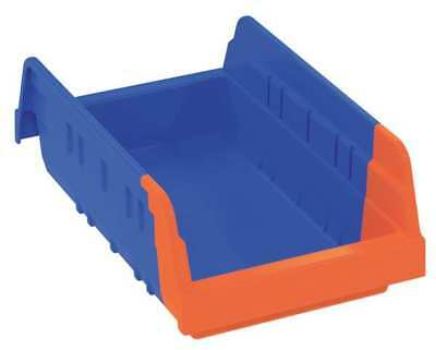 "Blue/Orange Shelf Bin, 11-5/8""L x 6-3/4""W x 4""H AKRO-MILS 36462BLUE"