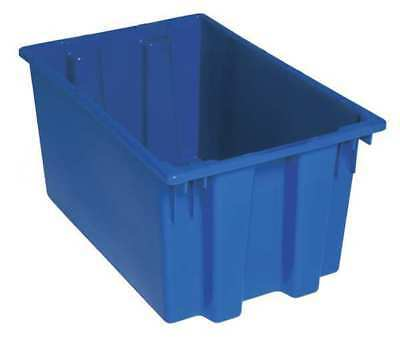 Nest and Stack Container, 23-1/2 in, Blue QUANTUM STORAGE SYSTEMS SNT240BL