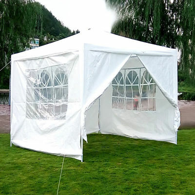 MCombo 10'x10' White Canopy Party Outdoor Wedding Tent Canopy Removable Walls