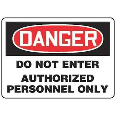 ACCUFORM SIGNS MADM140VP Danger Sign, 7 x 10In, R and BK/WHT, PLSTC
