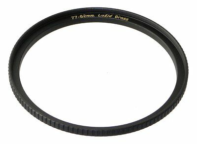 LUŽID 77mm to 82mm (77-82mm) Brass Step Up Lens Ring Adapter Luzid 77 82 mm
