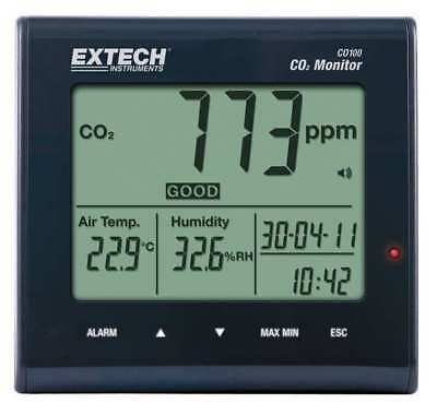 Indoor Air Quality CO2 Monitor, Extech, CO100