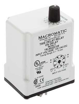 MACROMATIC TR-50226-14 Time Relay,On Delay,9 sec.,12VDC