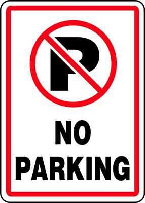"No Parking Sign, Accuform Signs, MVHR402VS, 14""Hx10""W"