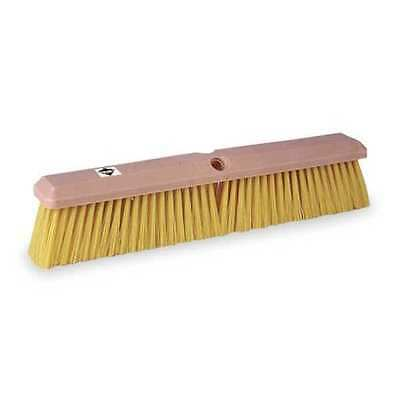 Tough Guy Yellow Synthetic General Purpose Push Broom, 1A841