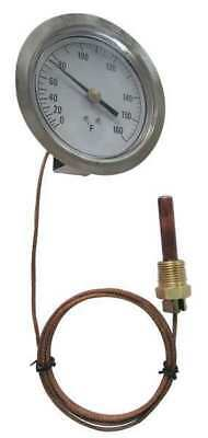12U629 Analog Panel Mt Thermometer, 0 to 100F
