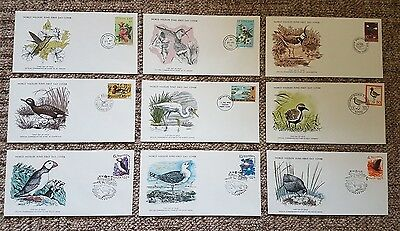Birds: Small collection of 25 World Wildlife Fund First Day Covers
