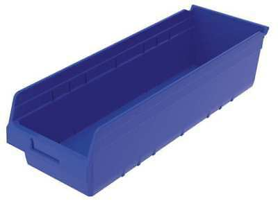 "Blue Shelf Bin, 23-5/8""L x 8-3/8""W x 6""H AKRO-MILS 30084BLUE"