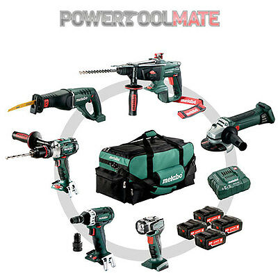 Metabo 691008000 6 Piece 18V Cordless Kit with 4 x 4Ah Batteries in Bag