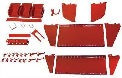 Workstation Slotted Accessory Kit,Red WALL CONTROL 35-K-WRKRD