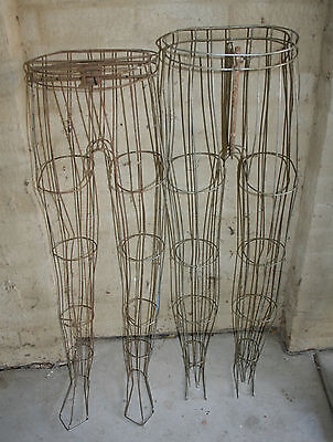 Art deco Wire Male Mannequin legs. Two Pairs.