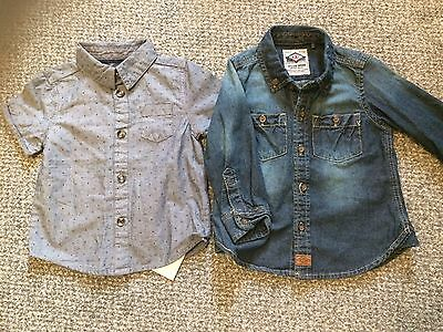 Baby Boy Denim Shirt Great Condition- New With Tags Shirt Size 9-12