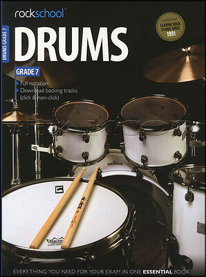 Rockschool Drums Grade 7 2012-2018 Exam Sheet Music Book with Audio Tests