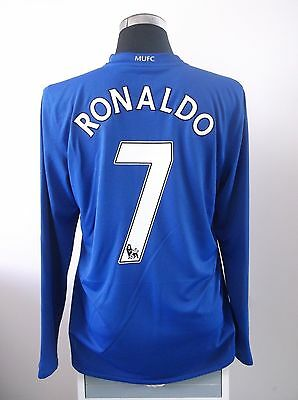 RONALDO #7 Manchester United Long Sleeve Third Football Shirt Jersey 2008/09 (L)