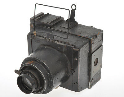 Very strange press camera?? 9x12cm with 150/4.5 Tessar, exc-