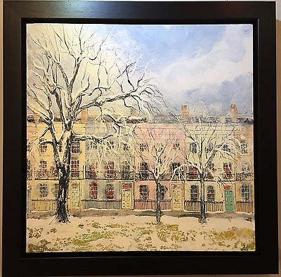 Winter Garden II by Katharine Dove, Original Painting on Canvas, Townhouses