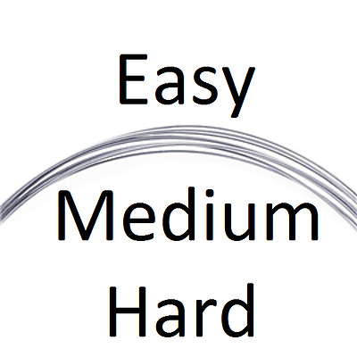 20ga Argentium® Silver Wire Solder Easy Medium Hard Soldering Jewellery Sterling