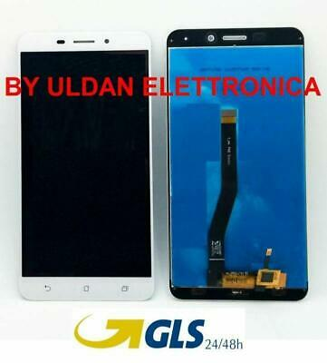 TOUCH SCREEN VETRO + LCD DISPLAY Per Asus Zenfone 3 Laser ZC551KL Z01BS Bianco