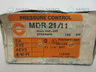 Condor Mdr21/11 Pressure Controller *new In Box*