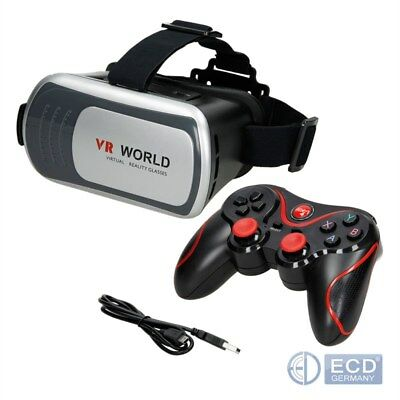 3D Virtual Reality Bluetooth Vr Brille Controller Android Kopfband Smartphone