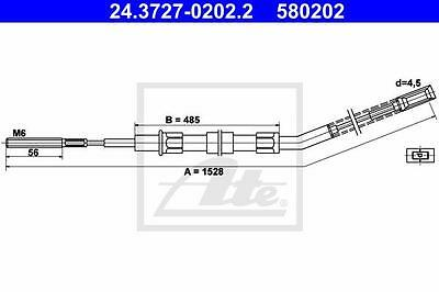Rear Hand Brake Cable ATE 24.3727-0202.2 for Bmw