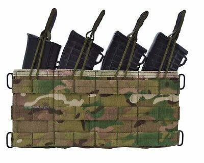 Original Russian Molle Fast Pouch For 4 AK MAGS by SPOSN SSO Multicam