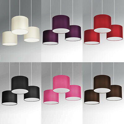 Set of 3 Modern Nesting Non Electric Pendant Shade Fitting Ceiling Lampshade