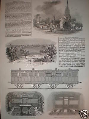 Train carriages North Woolwich Eastern Counties 1847