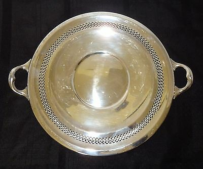 Vintage C & C Co. Silversmiths Taunton Mass. Silver On Copper Handled Tray