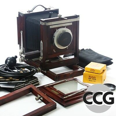Korona 5x7 Wooden Camera with Ilex Paragon 8 1/2'' f4.5 Lens and More!