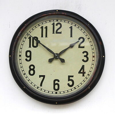 WEST GERMAN1960s Midcentury Vintage Retro Industrial Factory Post Office Clock