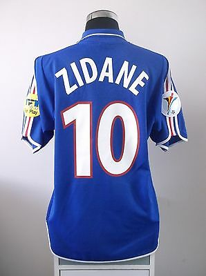Zinedine ZIDANE #10 France Home Football Shirt Jersey EURO 2000 (L)