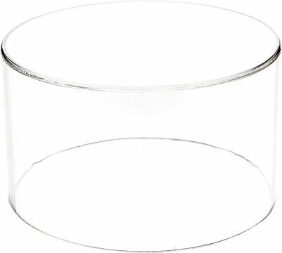 """Plymor Brand Clear Acrylic Round Cylinder Display Riser, 4"""" H x 7"""" D"""
