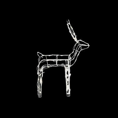 "48"" LED Light Wire Reindeer Outdoor Christmas 120 Warm LED White Lights"