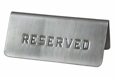 Tabletop Reserved Sign Stamped Pack of 10