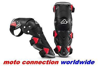 New Acerbis Evo-Impact Knee Shin Guards Hinged Motocross Knee Pad Guards