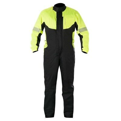Alpinestars Hurricane Rain Waterproof Motorcycle 1 Piece Over Suit Fluo/Black