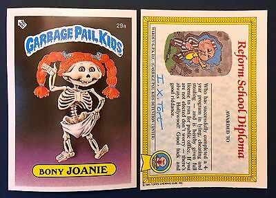 Bony Joanie 29a Garbage Pail Kids (1985) UK 1st Series Sticker/Topps/Vintage