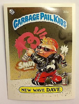 New Wave Dave 30a Garbage Pail Kids (1985) UK 1st Series Sticker/Vintage/Topps
