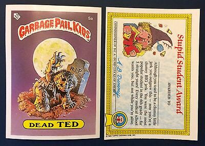 Dead Ted 5a Garbage Pail Kids (1985) UK 1st Series Sticker/Vintage/Topps