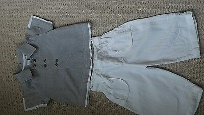 Baby boys 2 piece outfit age 3-6 months