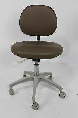 """Adec 1601 Dental Doctor's Stool in Brown Ultraleather & 19""""-26"""" Height"""