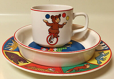 Vintage Nabisco Barnum's Animals Three Piece Child's Set International China