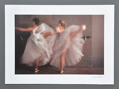 David Hamilton Ltd Ed Photo Signed in Print 40x29 Young Girls Ballerinas Ballett